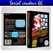 """Boitier du jeu """" SUPER MARIO BROS """", Nintendo, Nes. FR. HD. SANS LE JEU."""
