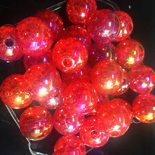 10pcs red Crackle Glass Round 12mm Beads Jewelry Findings Craft Bead Supply·@