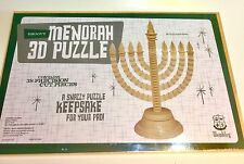 Groovy Menorah 3D Puzzle with 38 Precision Cut Pieces by Wembley No Glue Req NEW