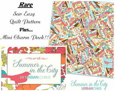 SUMMER IN THE CITY QUILT PATTERN + RARE CHARM PACK by Urban Chiks - Moda Fabrics
