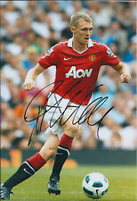 Darren FLETCHER Signed Autograph 12x8 Photo AFTAL COA MUFC Premier League RARE