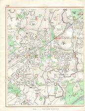 1964  VINTAGE STREET MAP - BYFLEET, COLDHARBOUR, WISLEY, PYRFORD