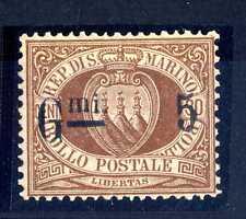 """SAN MARINO - 1892 - 5/30 cent. bruno - Errore tipografico - """"G.mi"""" invce di """"C.m"""