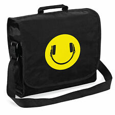 Smiley Headphones Record Bag - Audiophile Vinyl LP DJ, Christmas Gift Him Dad
