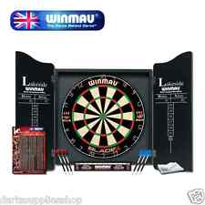 Winmau Blade 4 Lakeside Professional Dartboard with Deluxe Cabinets and Darts