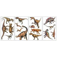 DINOSAURS wall stickers 16 realistic dinos decals scrapbook T-Rex Brontosaurus
