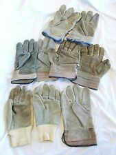 Work Gloves Leather,  Leather and Canvas backed Mixed pair #1