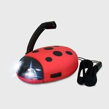 Powerplus Junior LADYBUG Mini Tiny Dynamo Crank Liferime LED Flashlight Twister