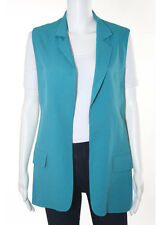 ALEXANDER WANG Teal Sleeveless Collared Open Front Vest Sz 0