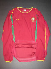 Authentic Dual Layer 2002 World Cup Nike Portugal Long Sleeve Jersey Shirt Figo