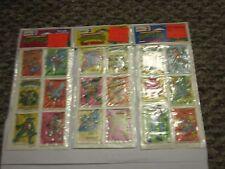 TMNT Ninja Turtle Vinyl Sticker Series 2 1988 Lot of 3 Packages Vintage Unused