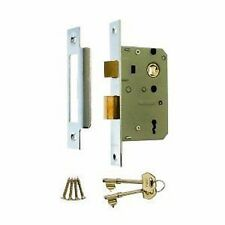 "Genuine ERA 3 Lever Mortice Sash Lock For Timber Doors - 2.5"" (65mm) - Chrome"
