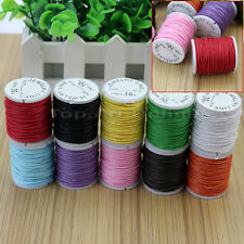 10 Rolls Mix Colors Waxed Cotton Cord Strings For Necklace Beads Jewelry DIY