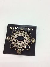 $68 Givenchy Stone Black  Faceted Cluster Pin