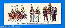CENTENARIO UNITA D'ITALIA - Figurina-Sticker n. 195-196 - ESERCITO PIEMONTE -Rec