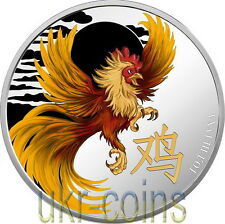 2017 Cameroon Lunar Year of the Rooster 1 Oz Silver Coin Proof Chinese Zodiac