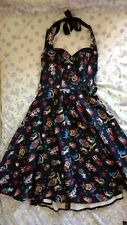 Hell Bunny rockabilly dress black sailor tattoo 50s flared halterneck goth punk