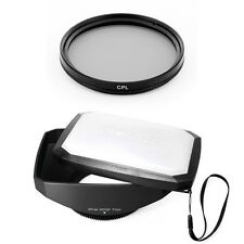 77mm 16:9 Wide Lens Hood,CPL Filter for Sony SLT-A37,A57, A77, A65 DSLR,NEW,USA