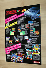 Nintendo pubblicità ad Flyer SNES Super Mario World Donkey Kong The Legend of Zelda