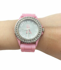 Limited Edition New Pink Breast Cancer Support Silicone Watch. $5 Donated
