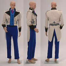 Disney Frozen Prince Hans Adult Cosplay Costume Suit Coat Tuxedo Costume Outfit