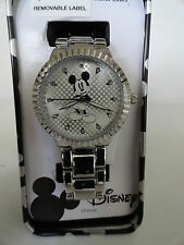 New Disney Mickey mouse silver tone ladies watch, Quartz. new/ Box /warranty