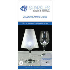12 Wine Glass Lamp Shades Rhinestones Wedding Party Table Centerpiece Decoration