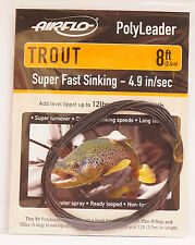 AIRFLO Polyleader TROUT 8ft / 2,40Mtr. SUPER FAST SINKING