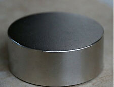 N52 Diameter 50mm x 20mm Round Cylinder Neodymium Permanent Magnets D50 x 20 mm