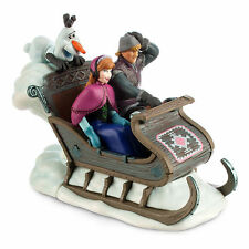 Disney Authentic FROZEN Sleigh Wind Up Toy w/ Sounds Anna Kristoff Olaf NEW