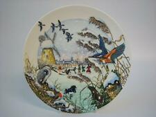 WEDGWOOD COLIN NEWMANS COUNTRY CHRISTMAS SKATING ON THE FEN PLATE