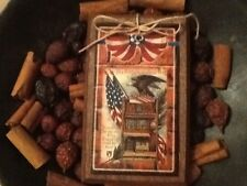5 Handcrafted Americana Ornaments/PAtriotic Hang Tags/USA Gift Tags SETcr