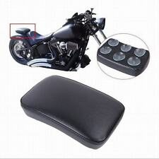1x Black Rear Fender Passenger Pillion Pad Seat 6 Suction Cup For Harley Custom