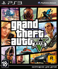 *NEW* GTA Grand Theft Auto 5 / V PS3 GAME ENGLISH / RUSSIAN VERSION 18+
