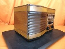 "Vintage 1940 WESTERN Auto 914 ""Truetone"" Pushbutton Wood Cabinet TUBE RADIO ~WOW"