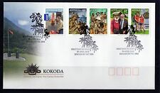 2010 Kokoda Joint Issue With PNG Set Of 5 Gummed FDC, Mint Condition