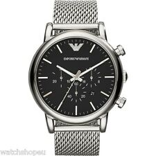 NEW EMPORIO ARMANI AR1808 MENS LARGE MESH LUIGI WATCH - 2 YEAR WARRANTY