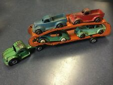 Antique Cast Iron Toy Arcade Car Carrier Truck Hauler Semi RARE HTF