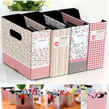 Rural Style Stationery Paper Board Storage Case Office Table Organizer Box JS