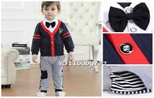 2PC baby boys clothing cotton tops+Pants set boys spring/ autumn suit 12-18 M