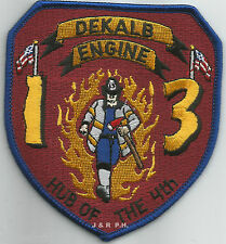 "Dekalb County  Engine-13, GA  ""Hub of the 4th""  (3.75"" x 4"" size)  fire patch"