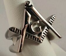 Freemason Square and Compass Cut-Out Ring (size 11)