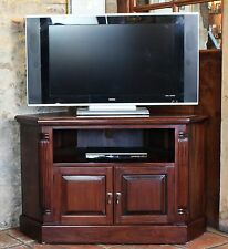 Chateau solid mahogany furniture corner television cabinet stand unit