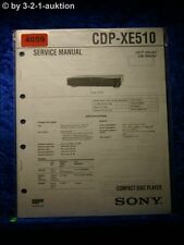 Sony Service Manual CDP XE510 CD Player (#4059)