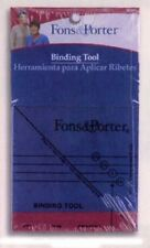 THE BINDING TOOL RULER FROM FONS & PORTER INCLUDES INSTRUCTIONS