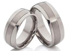 Elegante Titanio Anillos de pareja boda amistad & Gravado gratis