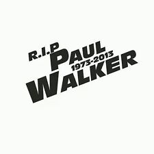 Paul Walker Title Style Memorial RIP Car Truck Window Laptop Vinyl Decal Sticker