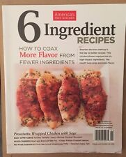 America's Test Kitchen 6 Ingredient Recipes More Flavor 2014 FREE SHIPPING!