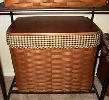Longaberger Personal File Basket SUPER SET - Rich Brown & Khaki Check - Nice!!