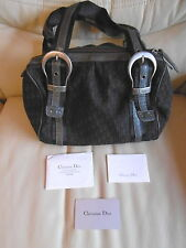 Ladies Christian Dior Monogrammed Handbag Bag Genuine